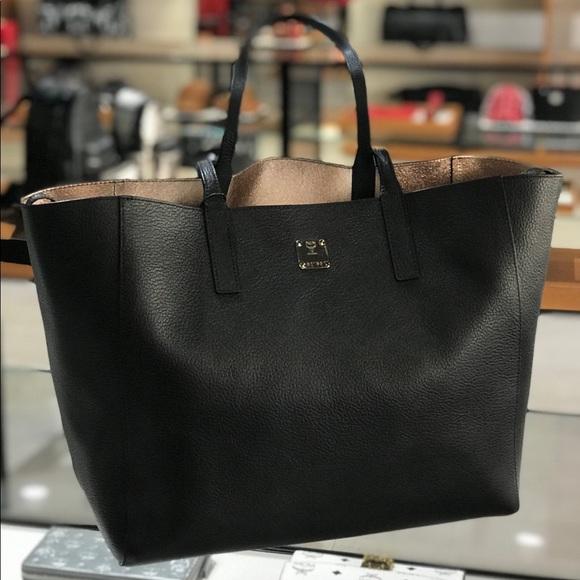 ddcd24edc3 ❤️New MCM Wandel Medium Reversible Black Tote Bag